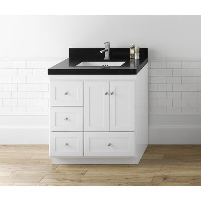 Ronbow shaker 30 bathroom vanity cabinet base in white - Unfinished shaker bathroom vanity ...