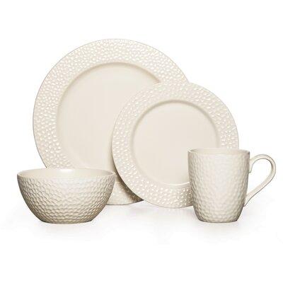 Hayes White 16 Piece Dinnerware Set by Gourmet Basics by Mikasa