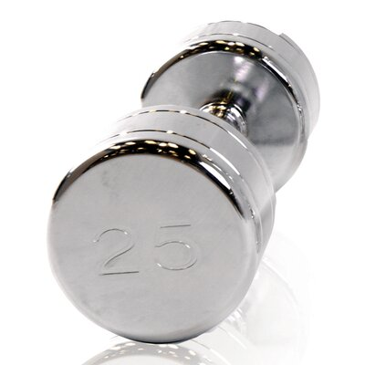 Chromed Dumbbell with Contoured Handle by Cap Barbell