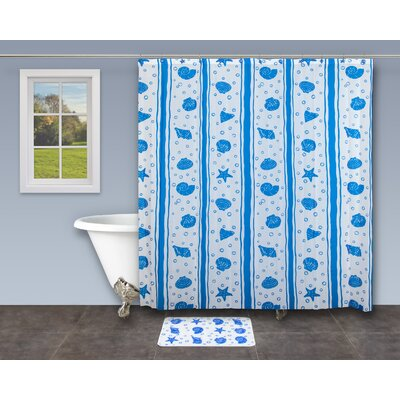 18 Piece Bathroom Shower Curtain Set by Innova Imports