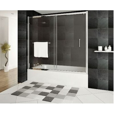 "Ultra-A 58"" x 60"" Sliding Glass Bath Tub Door Product Photo"