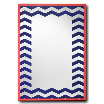 Coral Chevron Decorative Wall Mirror by Leick