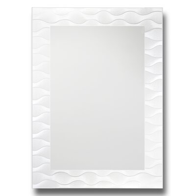 Frosted Wave Decorative Wall Mirror by Leick