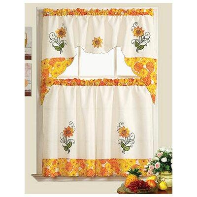 Sunflower Garden Kitchen Curtains
