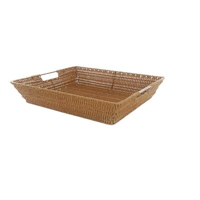 Javanese Medium Wicker Basket with Stainless Steel Handle by MImo Style Homegoods
