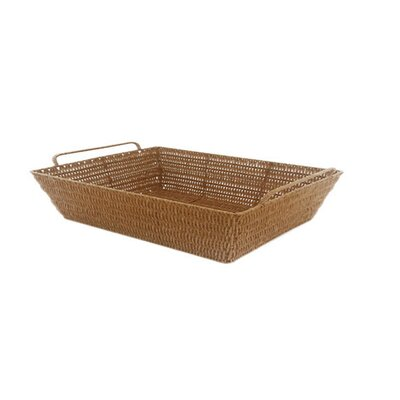 Javanese Style Plastic Wicker Basket with Metal Frame by MImo Style Homegoods