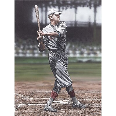 Babe Ruth as a Red Sox Artwork by Darryl Vlasak Photographic Print on Wrapped Canvas ...