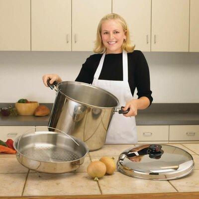 Precise Heat 30 Quart Stock Pot with Lid by Chef's Secret