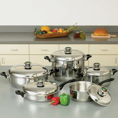 HealthSmart 10 Piece Stainless Steel Cookware Set by Chef's Secret