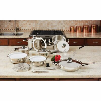 22 Piece Stainless Steel Cookware Set by Chef's Secret