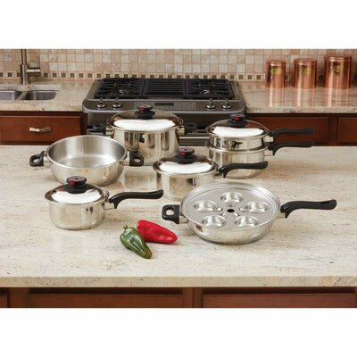 17 Piece Stainless Steel Cookware Set by Chef's Secret