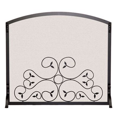 Arch Top Scroll 1 Panel Steel Fireplace Screen by Pilgrim Hearth