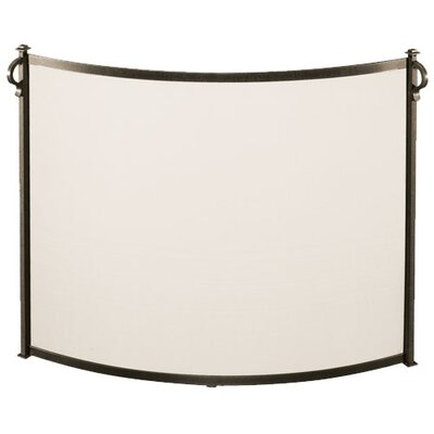 Bowed Craftsman 1 Panel Steel Fireplace Screen by Pilgrim Hearth