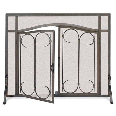 Gate 1 Panel Iron Fireplace Screen by Pilgrim Hearth