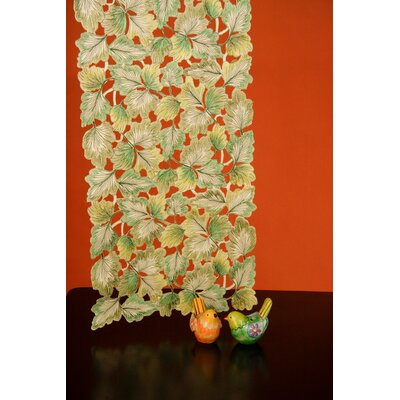 Fine Linen Classic Ginko Leaves Table Runner by Wimpole Street Creations