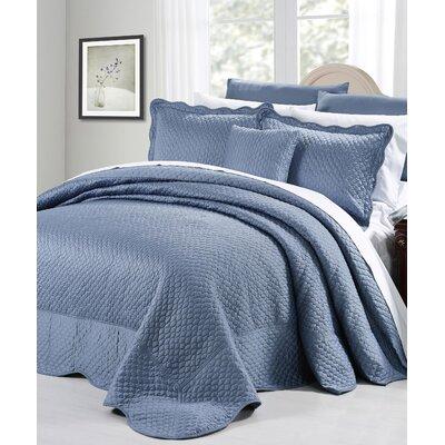 Matte Satin 4 Piece Bedspread Set by Serenta