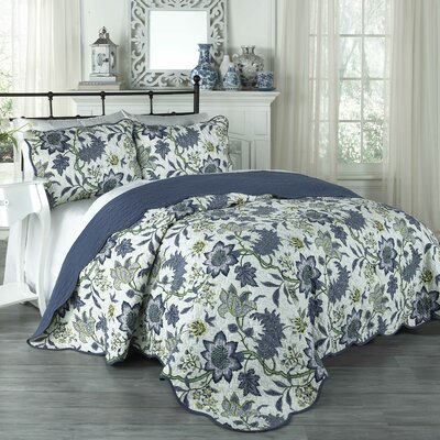 Maldives 3 Piece Quilt Set by Traditions by Waverly