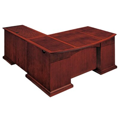 Flexsteel Contract Del Mar L-Shape Bow Front Executive Desk with Right Return