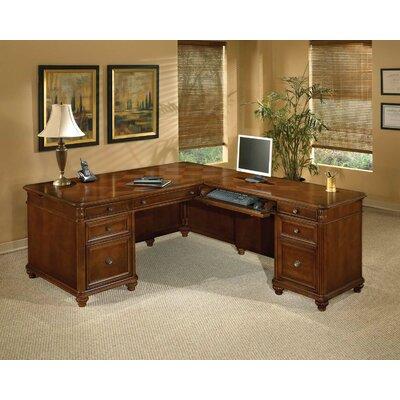 Flexsteel Contract Antigua L-Shape Executive Desk with Right Return