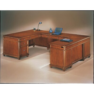Flexsteel Contract Antigua U-Shape Executive Desk with Right Return