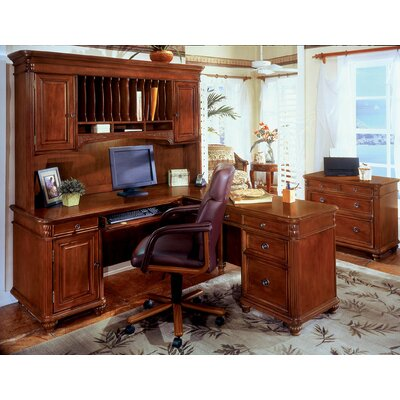 Flexsteel Contract Antigua 4-Piece L-Shape Desk Office Suite