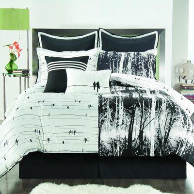 VCNY Woodland Comforter Set in Black & White