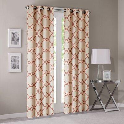 Saratoga Fretwork Window Curtain Single Panel Product Photo
