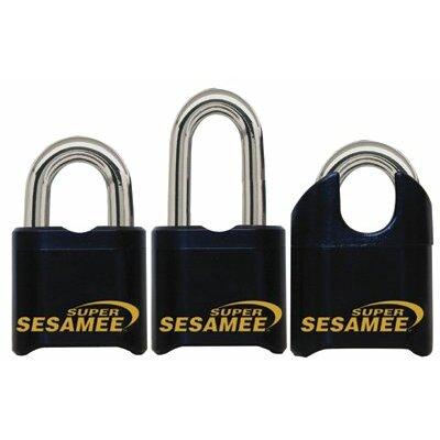 "CCL Super Sesame Keyless Padlocks - super sesamee padlock 1""shackle 7/16"" dia black"