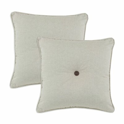 Brite Ideas Living Corded and Tufted Linen Throw Pillow