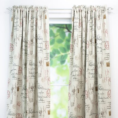 Postale Rod Pocket Curtain Panel Product Photo