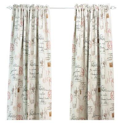 Brite Ideas Living Postale Cotton Rod Pocket Curtain Single Panel