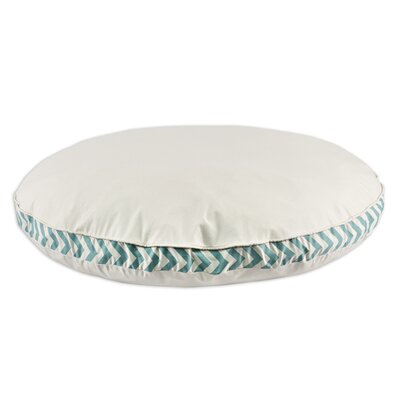 Saxony Round Pet Bed with Zig Zag Band and Top Cording by Brite Ideas Living ...