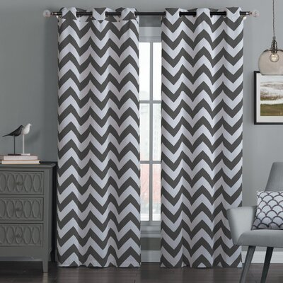 Blackout Chevron Curtain Panel (Set of 2) Product Photo