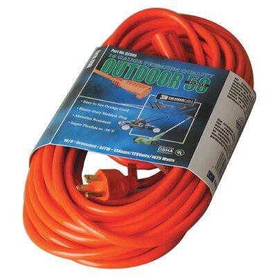 Coleman Cable Coleman Cable - Vinyl Extension Cords 50' 16/3 Sjtw-A Orange Ext. Cord 3-Cond. Rou: 172-02308 - 50' 16/3 sjtw-a orange ext. cord 3-cond. rou