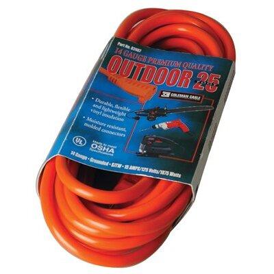 Coleman Cable Coleman Cable - Vinyl Extension Cords 25' 14/3 Sjtw-A Orange Ext. Cord 300V: 172-02407 - 25' 14/3 sjtw-a orange ext. cord 300v