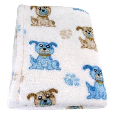Dog Fleece Toddler Blanket by StephanBaby