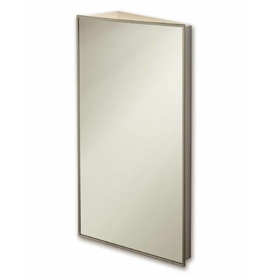 "16"" x 30"" Corner Mount Medicine Cabinet Product Photo"