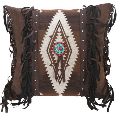 Pecos Trail Blanket Medallion Throw Pillow by Carstens Inc.