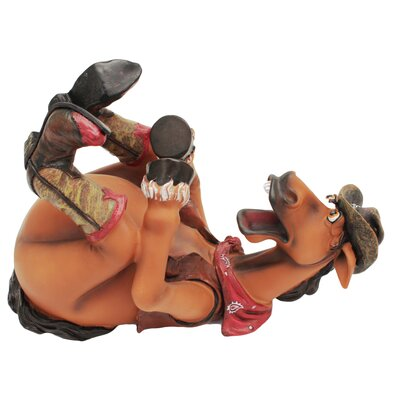 Cowboy/Horse 1 Bottle Tabletop Wine Bottle Holder by Rivers Edge
