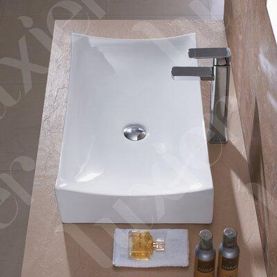 Porcelain Ceramic Vessel Vanity Bathroom Sink by Luxier