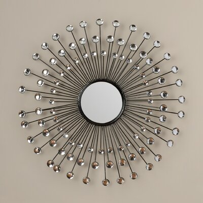Beatty Modern Sunburst Wall Mirror by Mercer41