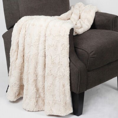 Rose Double Sided Faux Fur Throw Blanket by BOON Throw & Blanket