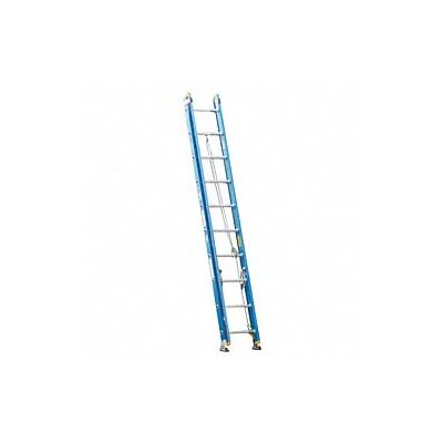 Werner 20 ft Fiberglass Extension Ladder with 250 lb. Load Capacity