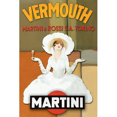 'Abstract Vermouth Martini Spirit' by ISI Art Vintage Advertisement on Wrapped Canvas by Image ...