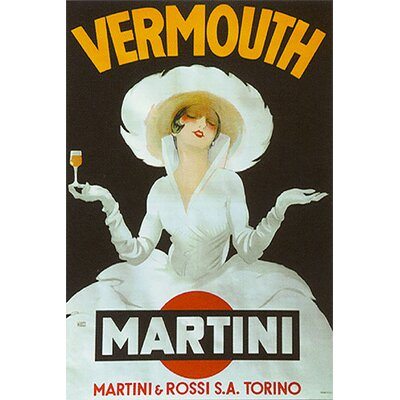 'Vermouth Martini Spirits' by Public Domain Vintage Advertisement on Wrapped Canvas by Image ...