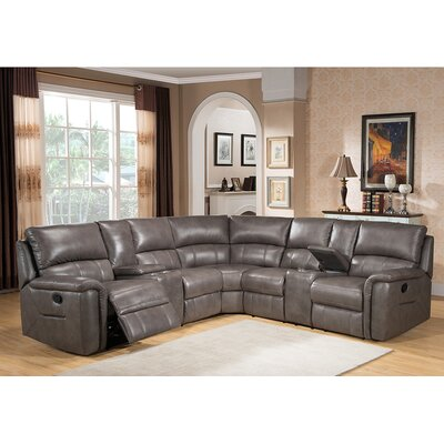 Sacramento Leather Sectional by Amax