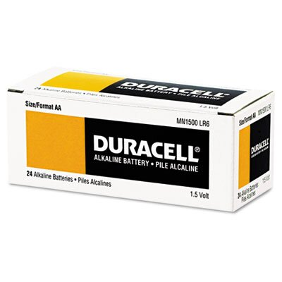 Duracell Coppertop Alkaline Batteries, AA, 24/box