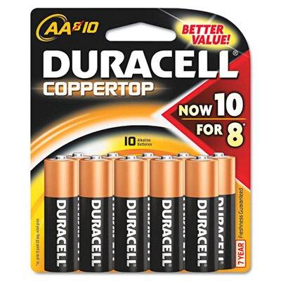 Duracell AA-Cell Coppertop Alkaline Batteries