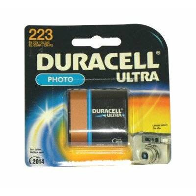 Duracell Duracell - Lithium Batteries 6.0 Volt Lithium Photo/Elictronic Battery: 243-Dl223Abpk - 6.0 volt lithium photo/elictronic battery