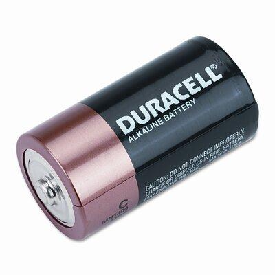 Duracell Coppertop Alkaline Batteries, C, 8/pack